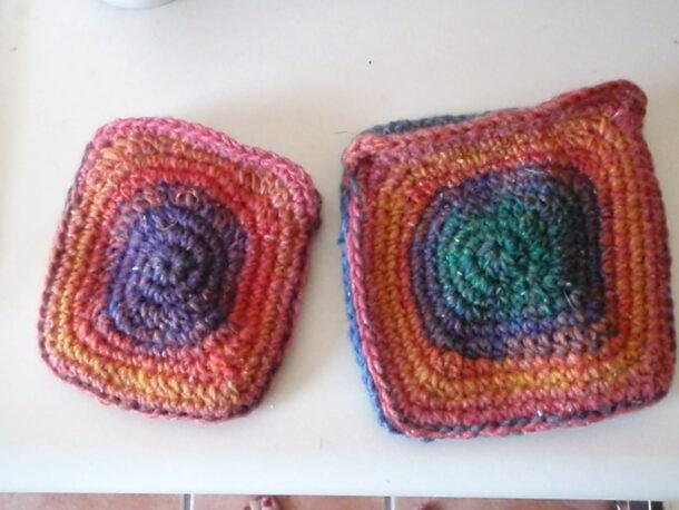 noro yarn coin purse