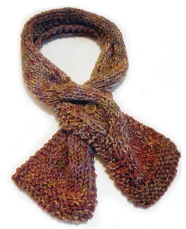 big cable mini scarf pattern