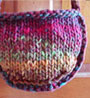 chunky purse knitted