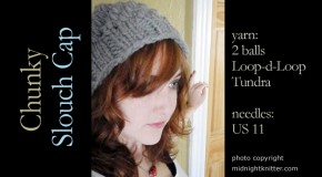 knit - Chunky Slouch Cap