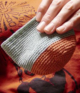 crochet cotton pouch size