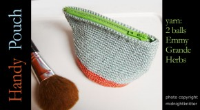 crochet - handy cotton pouch