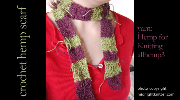 allhemp3 scarf knitted