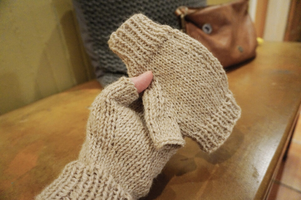free knitting pattern fingerless gloves
