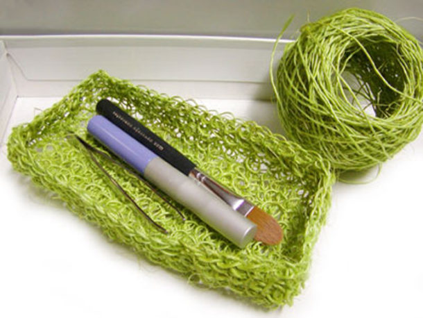 crochet container