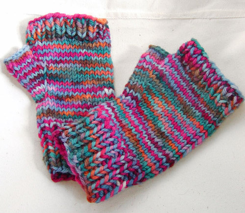 potluck yarn mittens