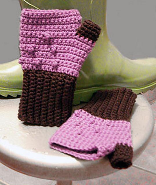 crochet wrist warmers punk style