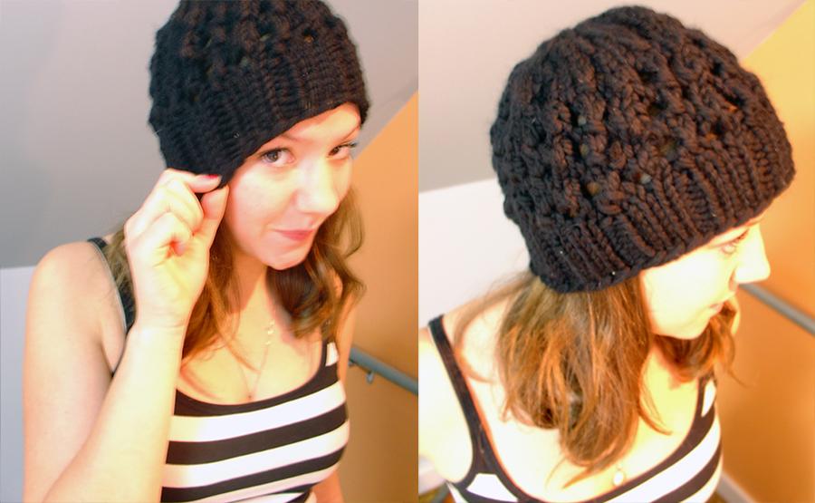 chunky knit hat pattern