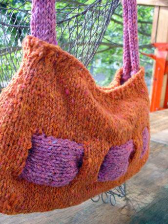 free knit bag pattern